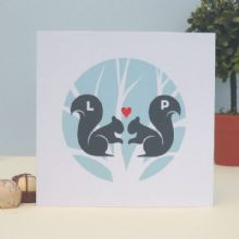 Squirrels In Love Personalised Valentine's Day Card, Wedding, Anniversary Card, Romantic Personalised Keepsake Card